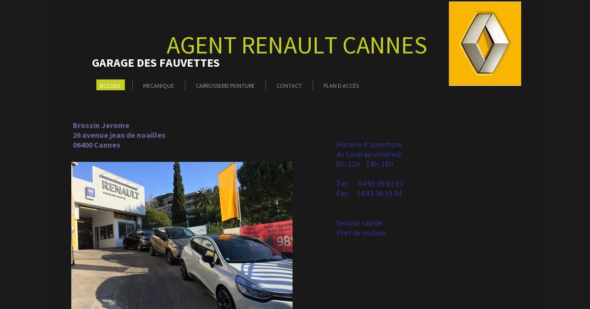 Garage des fauvettes agent renault cannes for Credit garage renault